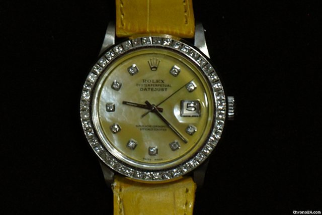 Rolex DATEJUST DIAMOND 2 KT MADREPERLA