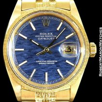 Rolex Datejust 1611 18k Florentine Blue Brick Dial