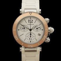 Cartier Pasha de Cartier Chronograph Stainless Steel/18k Rose...