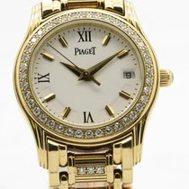Piaget Polo Ladies Solid 18k Gold Factory Diamond Bezel &...