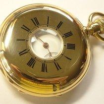 Antique 18k Gold Jean DELEYDERRIERE Demi Hunter Chronometer...