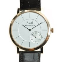 Piaget Altiplano 18k Rose Gold Silver Automatic G0a35131