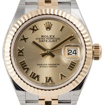 Rolex Lady-Datejust 28 Steel and Yellow Gold Champagne/Roman...
