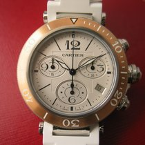 Cartier Pasha Seatimer Chronograph Date Chrono White