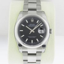 Rolex Datejust 36mm Black Index Stick Dial Oyster 116200