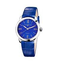 Ulysse Nardin 8103-116 Classico in Steel - on Blue Crocodile...