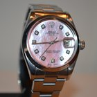 Rolex OYSTER PERPETUAL DATE AUTO PINK DIAMONDS BOX/PAPERS