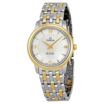 Omega De Ville Prestige White Mother of Pearl Dial Ladies Watch