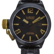 U-Boat Classico Mens Black PVD Stainless Steel GOLDEN Crown...