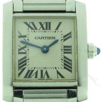 Cartier Tank Francaise Ref. 2384 Ladies Quartz Watch W/ Box...