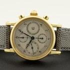 Chronoswiss Chronograph Chronometer Yellow Gold Silver Dial 18...