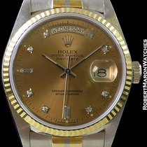 Rolex Tridor Day Date President 18039b 18k White Rose Yellow Gold
