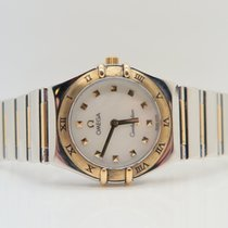 Omega Constellation 18k Gold Steel Mother of Pearl Dial