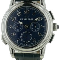Jaquet-Droz Mens  Gmt Chronograph Stainless Steel Watch W/...