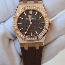 Audemars Piguet Royal Oak 33 brown dial in rose gold 67651OR.Z...