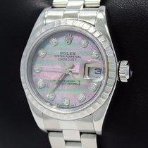 Rolex Datejust 79240 Diamond Tahitian Mop Dial Oyster Date...