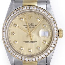 Rolex Datejust Men's 2-Tone Diamond Watch with Oyster...