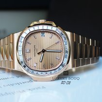 Patek Philippe Nautilus Rose Gold Baguette Diamonds
