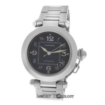 Cartier Mint Midsize Cartier Pasha 2324 Stainless Steel Date...