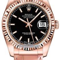 ロレックス (Rolex) Datejust 36mm Everose Gold 116135 Black Index
