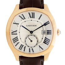 Cartier Drive De Cartier 18k Rose Gold Silver Automatic WGNM0003