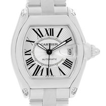 Cartier Roadster Automatic Steel Silver Dial Mens Watch W62025v3
