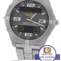 Breitling Aerospace Titanium E75362 Digital Grey 40mm Arabic...