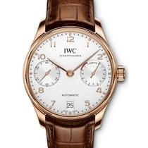 IWC IW500701 Portugieser Automatice in Rose Gold - on Brown...