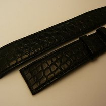 IWC genuine alligator strap 19/16 mm, black, New