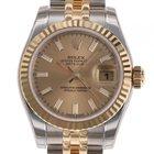 Rolex Datejust Lady Stahl/Gelbgold Automatik Jubilé Armband...