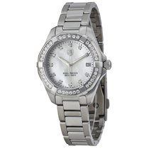 TAG Heuer Aquaracer Mother of Pearl Diamond Dial Stainless...