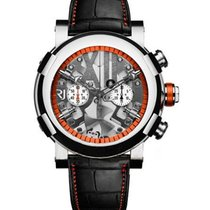 Romain Jerome Titanic DNA Steampunk Chrono Orange in Polished...