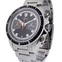Tudor 70330N Heritage Chrono - Steel on Bracelet with Black Dial