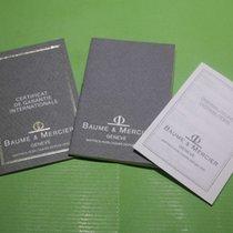 Baume & Mercier vintage warranty booklet and papers...