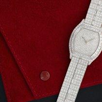 Cartier Platinum Full Diamond Tortue Baguette Bracelet Wristwatch