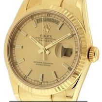 Rolex Day-Date President 18k Yellow Gold 36mm Y Serial Ref....