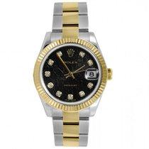 Rolex Datejust 31 Black Jubilee Diamond Dial Steel and 18K...