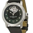Frederique Constant Heartbeat Stainless Steel Diamonds Textil...