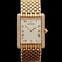 Cartier Tank Paris Rare Original Diamond set and chequered...