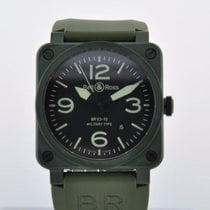 Bell & Ross BR03-92-CK GREEN  CERAMIC BOX- CARD - 2 YR...