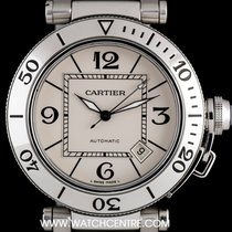 Cartier Stainless Steel Silver Dial Pasha Gents Wristwatch