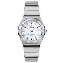 Omega Constellation Steel Mop White 123.10.27.60.05.001 Ladies...
