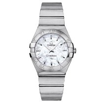 Omega Constellation Steel Mop White 123.10.27.60.05.001 Ladies...