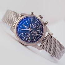 Breitling Transocean Unitime Pilot Worldtimer Chronograph Blue...