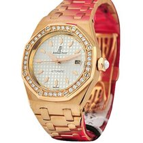 Audemars Piguet Ladys Rose Gold ROYAL OAK Diamond Bezel