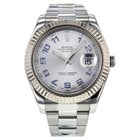 Rolex Datejust Ii 41mm 116334 Stainless Steel & 18k White...