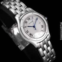 Cartier Cougar Panthere Mens Quartz Watch with Date - Stainles...