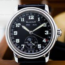 Blancpain Leman Complete Calendar Black Military Dial SS / Strap