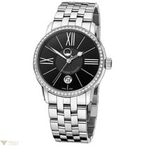 Ulysse Nardin Classico Luna Diamonds Bezel Black Dial Men`s Watch