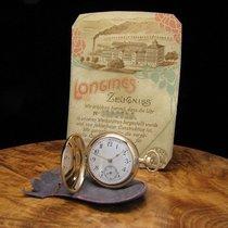 Longines 14kt Gold Savonnette Taschenuhr / Orig. Blatt